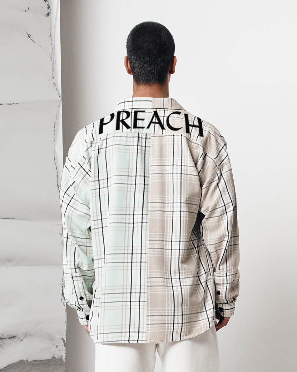 Light Oversized Check Shirt