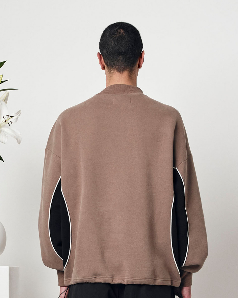 Long Piping Turtle Neck